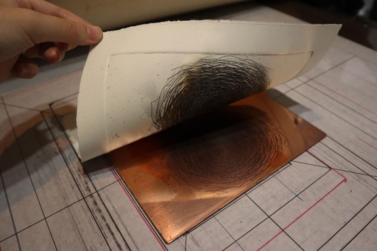 【銅版画の作り方  下準備編 その② 】銅版を削って作る プレートマークの作り方
