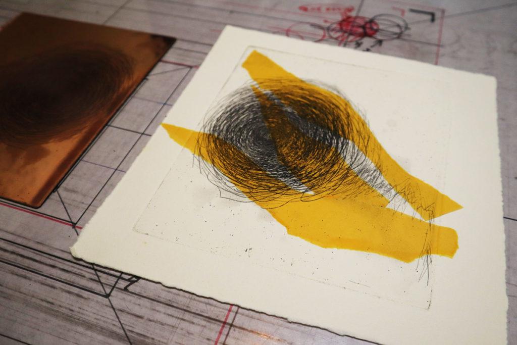 【銅版画の作り方  技法 その2】コラージュみたいで楽しい!シンコレ(shine colle) で作ってみよう