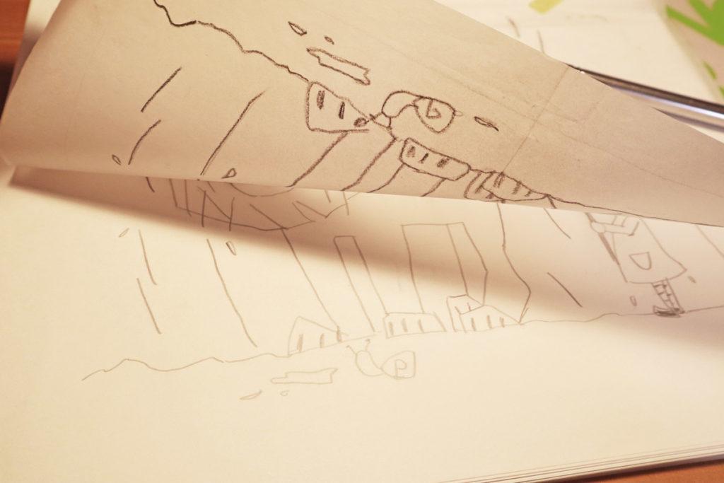 【銅版画の作り方 下準備編 その1】下絵は鏡みたいに反転して描く?