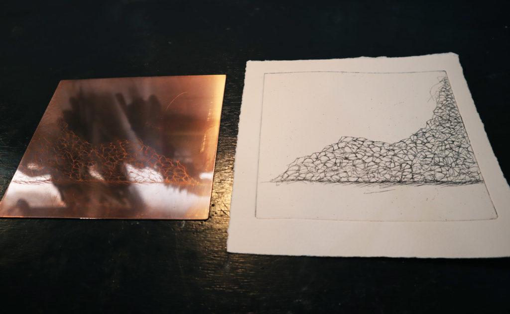 【銅版画の作り方 技法 その①】銅版画の基本エッチング(etching)と腐食をやってみよう!