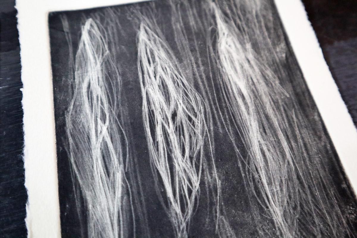 【銅版画の作り方 技法 その11】深い黒色が魅力的!メゾチント(mezzotint) で作ってみよう