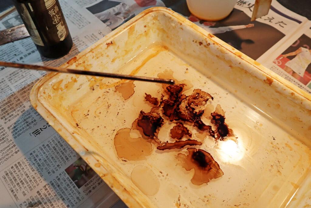 【銅版画の作り方 技法 その14】銅板に吸い付く不思議な技法!? マーブリング(marblingt)で作ってみよう!